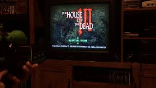 House of the Dead 3 original Xbox with silent scope light gun
