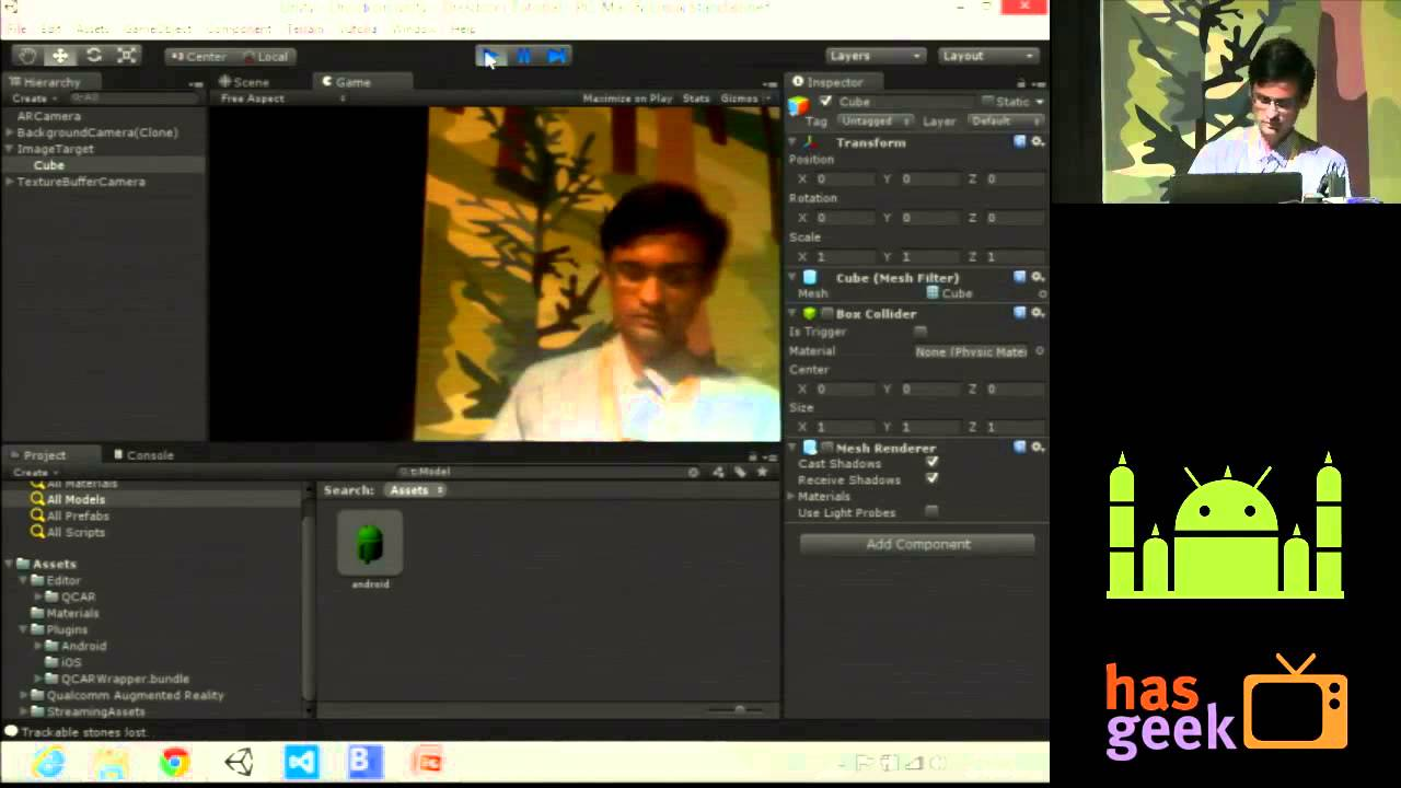 Developing Augmented Reality Android Application