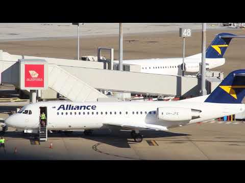 Alliance airlines Fokker 70 Embarkation, Arrival, Disembarkation at Brisbane domestic airport