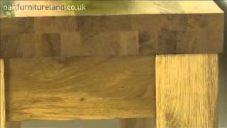 Andorra Solid Oak Console / Hall Table From Oak Furniture Land