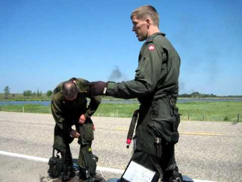 Brave Pilots Emerge After Ejecting From Fighter Jet 2.AVI