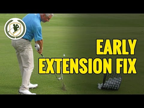 Golf Swing Early Extension Fix With Drills