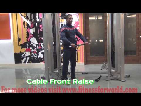 Cable front raise  by  Expert  Mayur Deshpande (ACSM & ACE certified) Mumbai