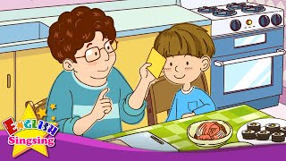 [Liking] Do you like cheese? Yes or No. - Easy Dialogue - English educational animation.