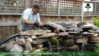 cascade de bassin construire une cascade de jardin en pierre