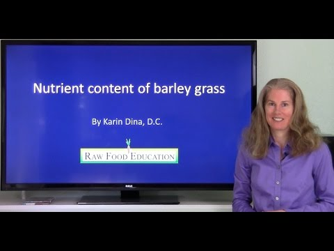 Nutrient Content of Barley Grass