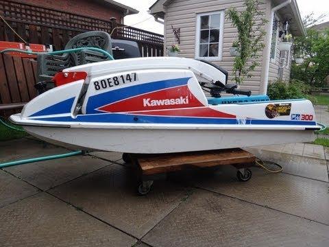 1987 Kawasaki 300 Jet-Ski Start Up - YouTube