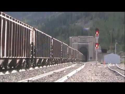 Union Pacific Coal Train Enters the Moffat Tunnel