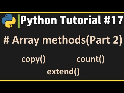 Array Methods (Part 2) - Python Tutorial #17 thumbnail