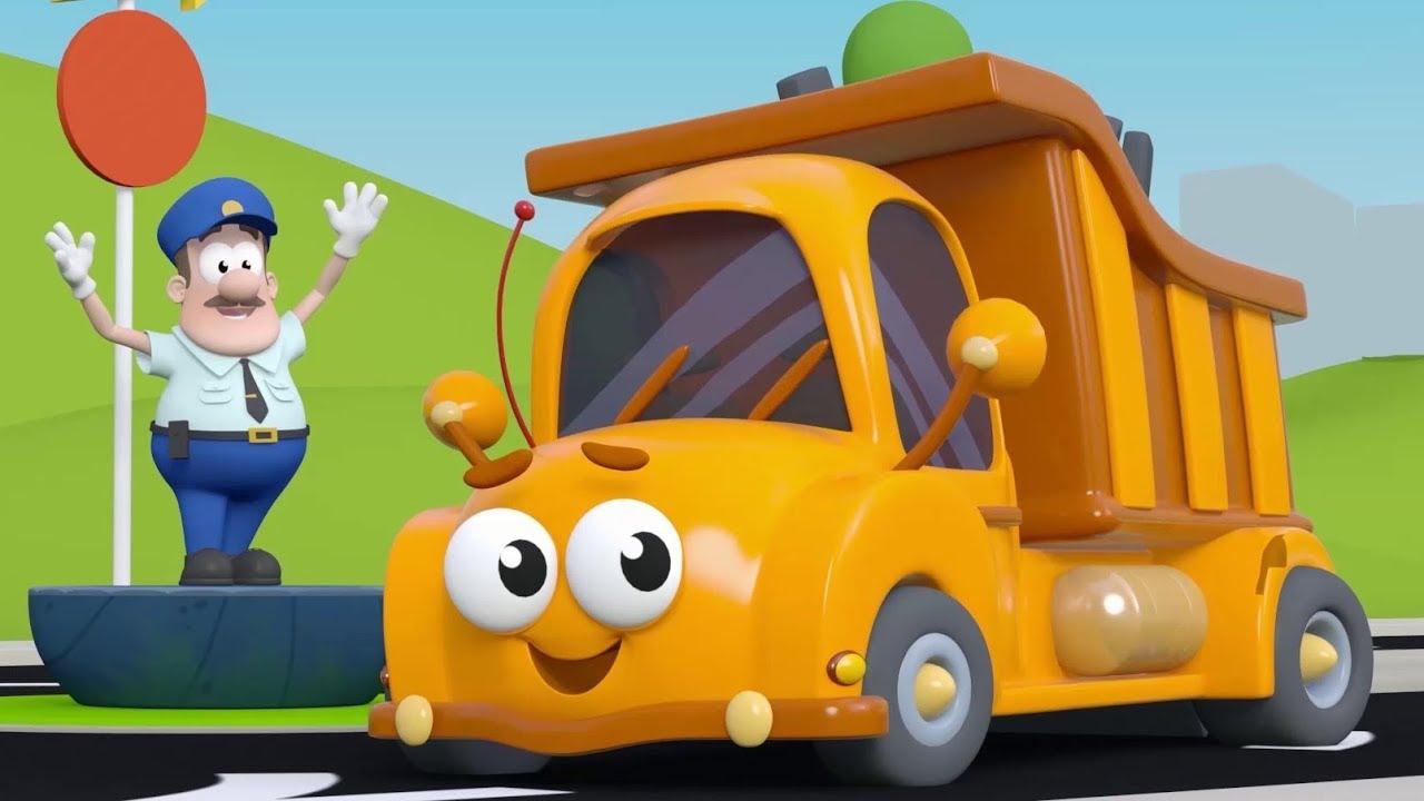 10 Küçük Kamyon - Saymayı Öğreten Çocuk Şarkısı - Arabalı Şarkılar