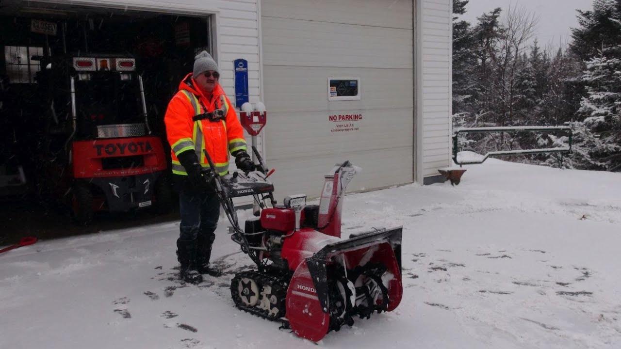 Honda Hss928 First Snow With Bonus Video