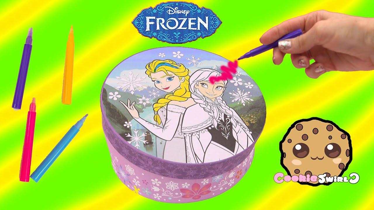 Disney Frozen Decorate Stationery Box Color Queen Elsa Princess Anna Blind Bag Surprise