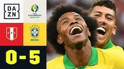 Selecao zaubert sich ins Viertelfinale: Peru - Brasilien 0:5 | Copa America | DAZN Highlights
