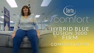 Serta iComfort Hybrid Blue Fusion 3000 Firm Mattress Comfort Depth 2
