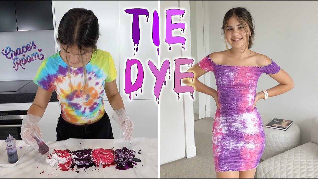 Tie Dyeing My Favourite Dress! | Grace's Room