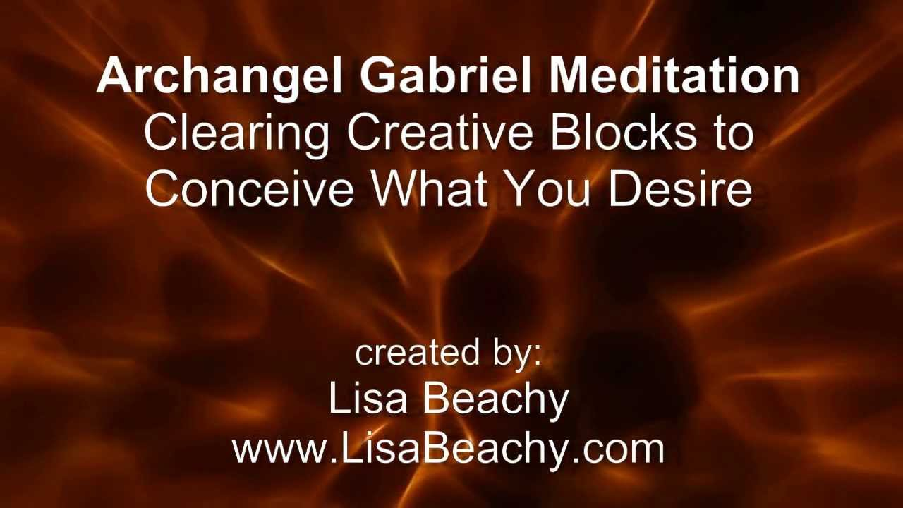 Connu Archangel Gabriel Meditation Clearing Creative Blocks to Conceive  EX64