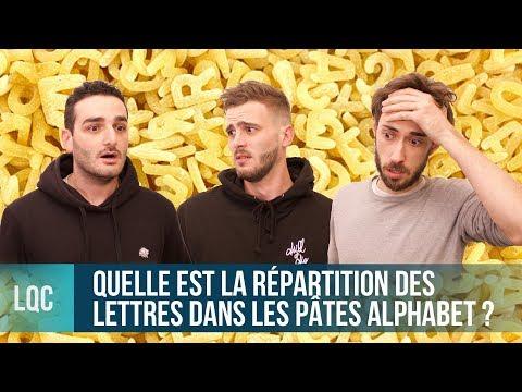 LQC - Quelle est la répartition des lettres dans les pâtes alphabet ?