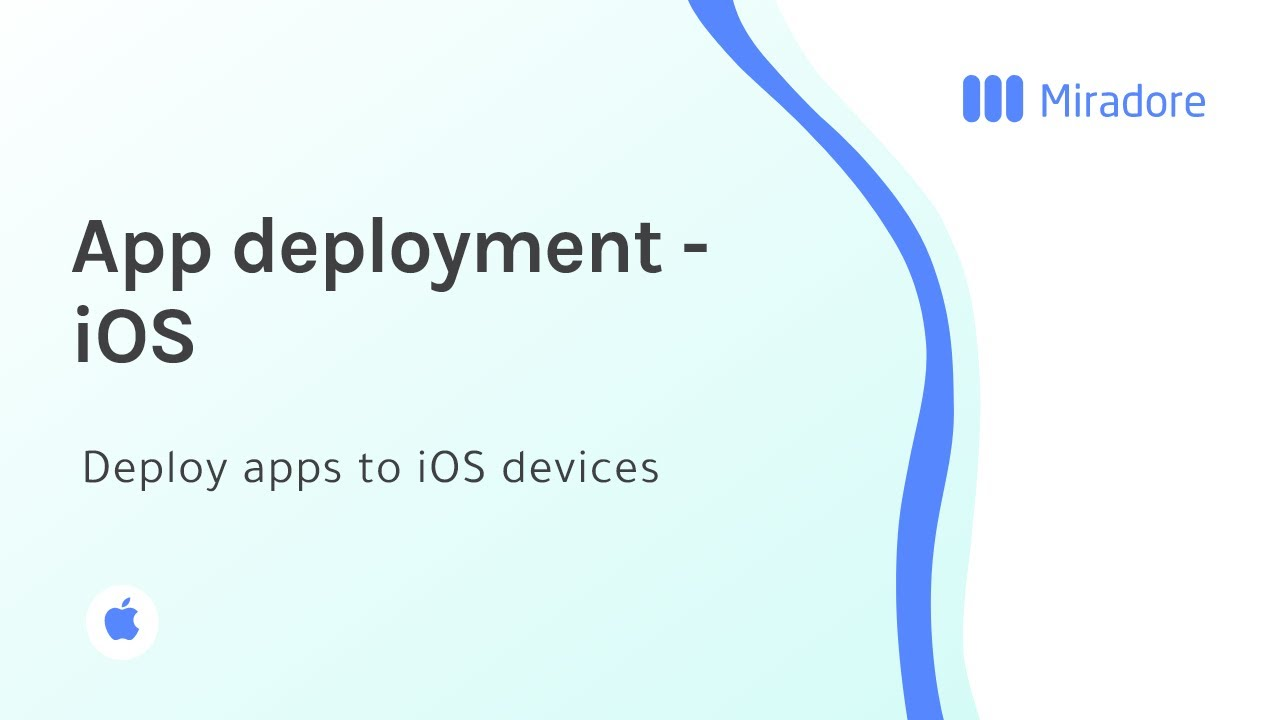 Application deployment for iOS devices