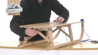 Super Tramp Colint Folding Davos 100 Wooden Sledge - Www.simplypiste.com