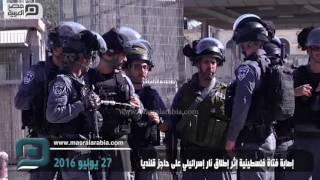 مصر العربية | إصابة فتاة فلسطينية إثر إطلاق نار إسرائيلي على حاجز قلنديا