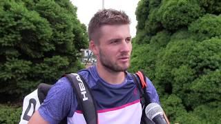 Marek Jaloviec po výhře v 1. kole na turnaji Futures v Ústí n. O.