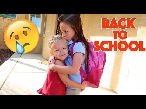 EMOTIONAL BACK TO SCHOOL! 😭 SISTERS SEPARATED!