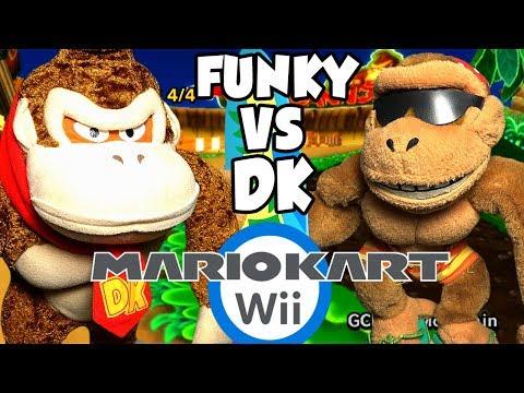 ABM: Donkey Kong Vs Funky Kong!! Mario Kart Wii Gameplay!! Race & Battle !! ᴴᴰ