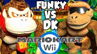 ABM: Donkey Kong Vs Funky Kong!! Mario Kart Wii Gameplay!! Race & Battle !! ᴴᴰ