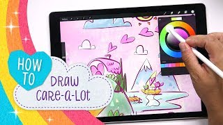 Care Bears | How to Draw Care-A-Lot!