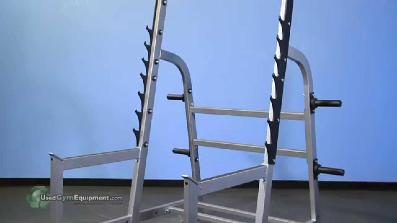 Used Squat Rack >> Used Gym Equipment Hammer Strength Olympic Squat Rack Youtube