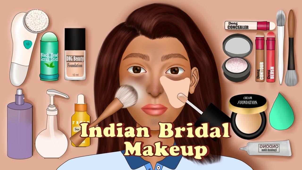 [ MAKEUP ANIMATION ]  ELEGANT INDIAN BRIDAL Makeup Animation | Makeup Transformation |ONDONG