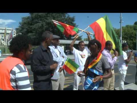 Ethiopians protest in geneva
