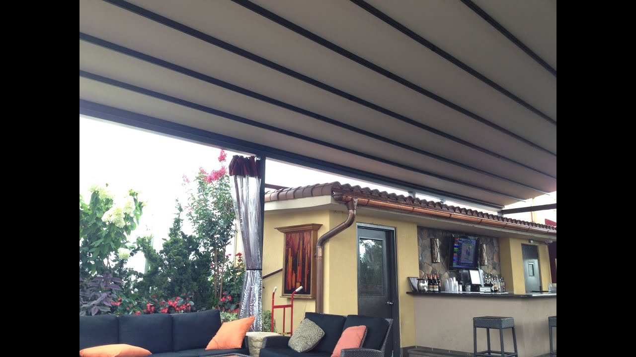 the gennius a waterproof retractable penthouse awning youtube