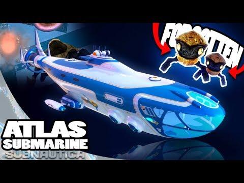Subnautica - GIANT ATLAS SUB UPDATE, INSIDE THE SUBMARINE & NEW STRANGE CREATURE - Gameplay