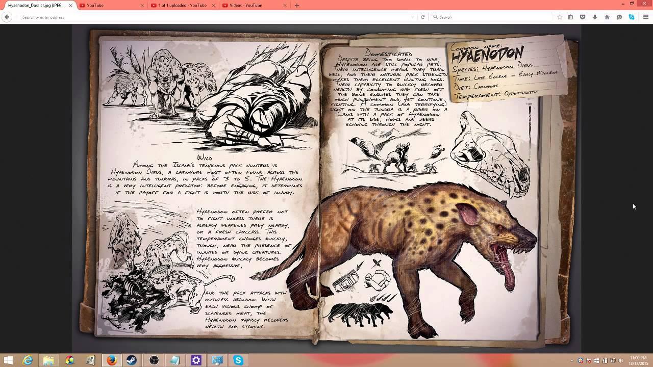 ARK Survival Evolved New Dino release: Dossier for Hyaenodon the fast  healing pack hunter