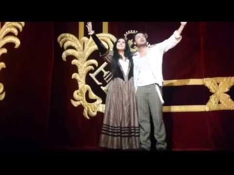 Angela Gheorghiu - Curtain call of La Boheme at the Royal Opera House, 2014