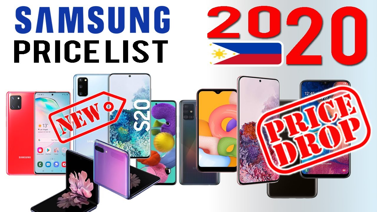 Samsung Price List Updated 2020 In The Philippines Price Drop