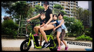 Kids riding Fiido e scooter!!! Family Friendly Electric Scooter Review #GenesisScoots #RyanGenesis +