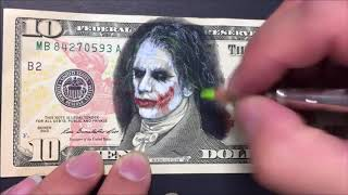 How to draw the Joker - Learn to draw a evil clown - speed art - color pencils