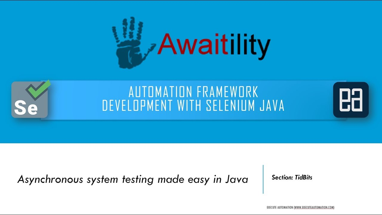 Asynchronous system testing in Selenium Java with Awaitility