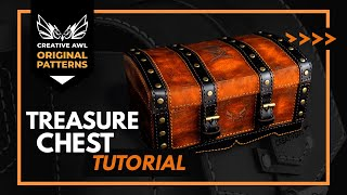 How to make leather Treasure Chest  Making leather Box with PDf Pattern