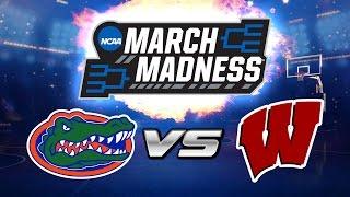 FLORIDA vs WISCONSIN   NCAA March Madness Prediction   NBA Live Mobile vs NameIsChase!