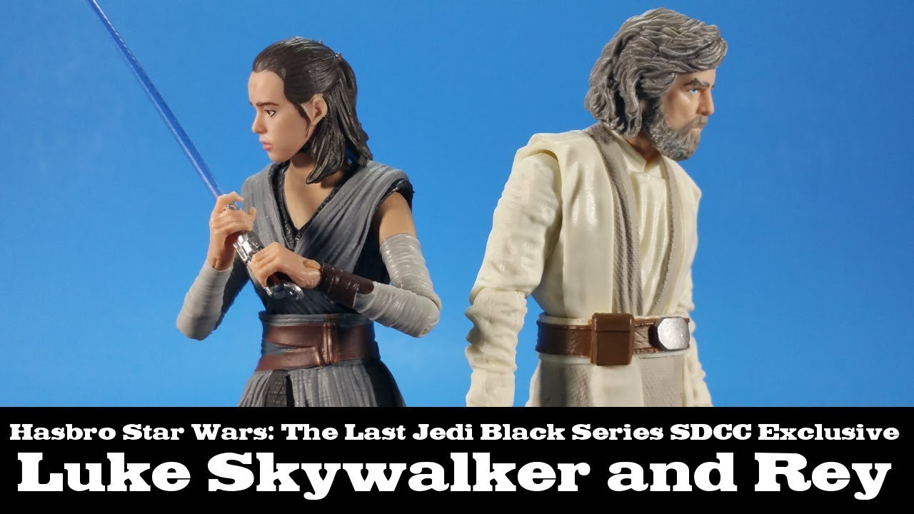 Star Wars Black Series SDCC Luke Skywalker /& Rey 2 Pack Last Jedi Action Figures