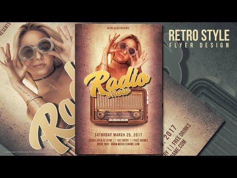 [Photoshop Tutorial]Create a Retro Style Radio Show Flyer In Photoshop