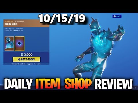 *NEW* ZERO SKIN... Fortnite ITEM SHOP [October 15] (Fortnite Battle Royale)