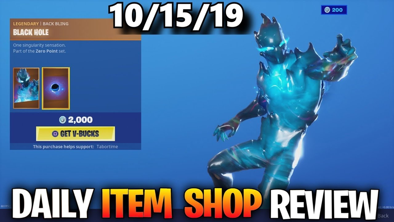 New Zero Skin Fortnite Item Shop October 15 Fortnite Battle Royale