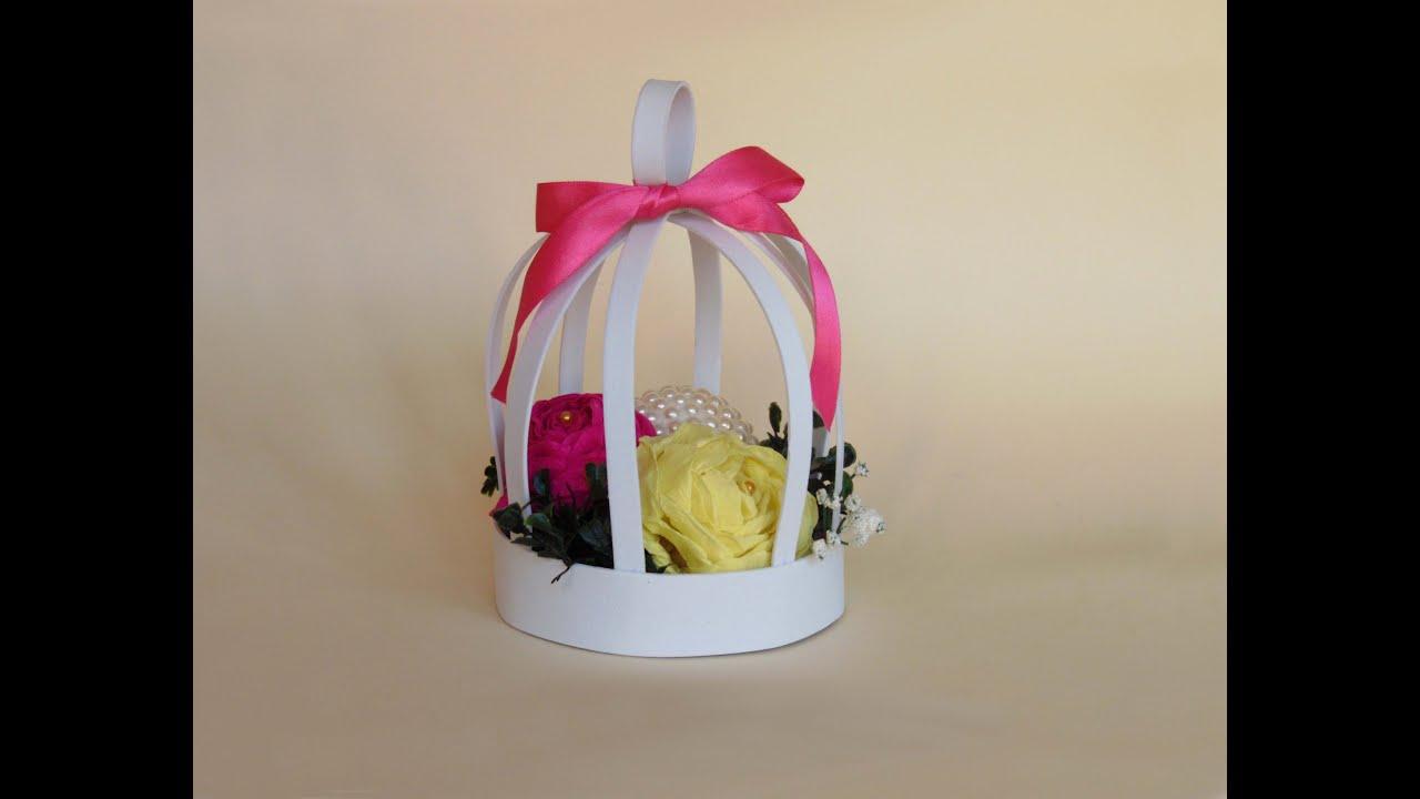 Como hacer una jaula decorativa con goma eva youtube - Lamparas con goma eva ...
