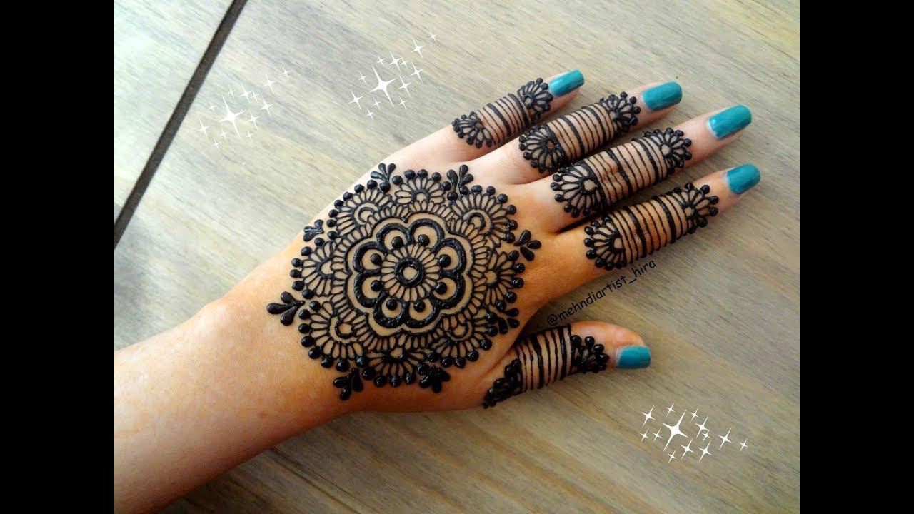 Mehndi Bunch On Arm : Most beautiful easy simple henna mandala gol tikki mehndi designs