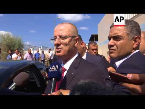PM tours water plant before returning to West Bank