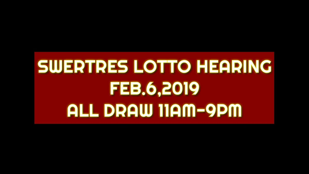 Swertres Hearing and Tips | Feb 6,2019 by Suertres Lotto GUIDE